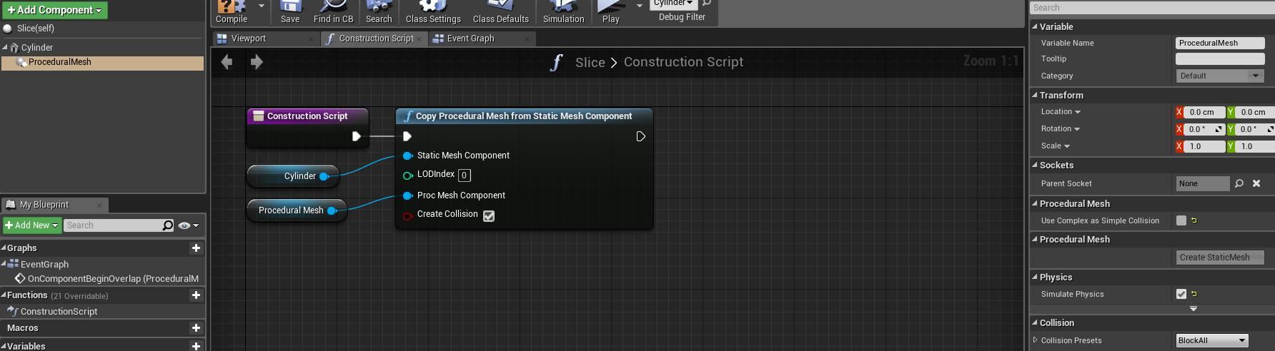 Procedural Mesh Slice in Unreal 4 – TTK Studios